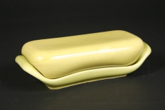 Russel Wright Steubenville Pottery chartreuse butter dish American Modern 2019.9