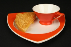 Art Deco Streamline Mandarin Tricorne with grilled cheese