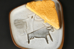 David Gil Bennington Pottery with grilled cheese