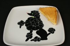 Glidden Pottery Chi Chi poodle with grilled cheese