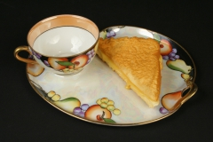 Japanese Noritake snack set with grilled cheese