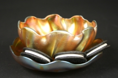 Louis Comfort Tiffany finger bowl with oreos