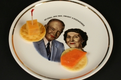 Eisenhower Ebrink commemorative plate with appetizers