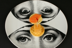 Piero Fornasetti designed Lina plate with appetizers