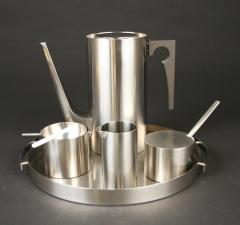 Danish designer Arne Jacobsen Stelton Lauffer Stainless Steel  ashtray with candy cigarette