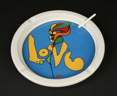Love ashtray with candy cigarette Iroquois China Peter Max