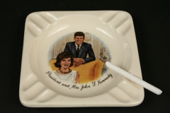 Kennedy ashtray with candy cigarette