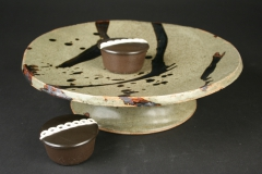 Gerry Eskin cake stand with Hostess cupcakes