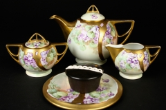 Schonwald Porcelain, Bavaria, decorated by Phillip Wight Belle Epoque Art Nouveau hand-painted by Pickard artist 1920s with Hostess cupcake
