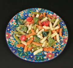 French Longwy Ware with pasta