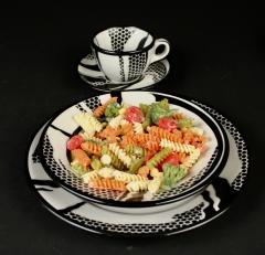 Roy Lichtenstein with pasta 1966 Jackson China