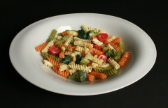 Russel Wright's  Theme Formal with pasta