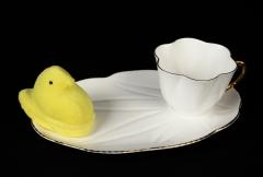 2016.186 English Shelley bone china snack set with peep