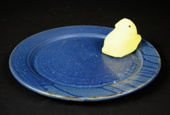 Fred Johnston plate 1990s Alfred with plush peep