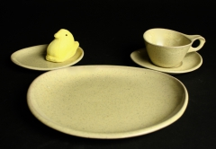 2018.3 Glidden Pottery Sculptured Stoneware in Yellowstone with peeps