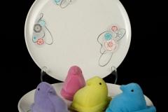 2020.77 Branchell Melmac Kaye LaMoyne design amoeba-like design with peeps