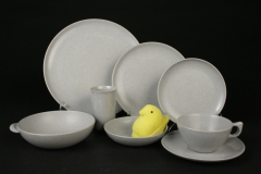 2020.86 Branchell Mist Grey  Kaye LaMoyne Color Flyte  Memac plastic dishes with plush peep
