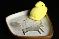 David Gil Bennington Pottery with plush Peep
