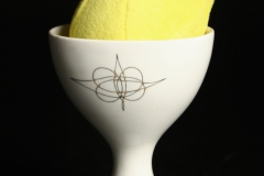 Eva Zeisel egg cup with plush Peep