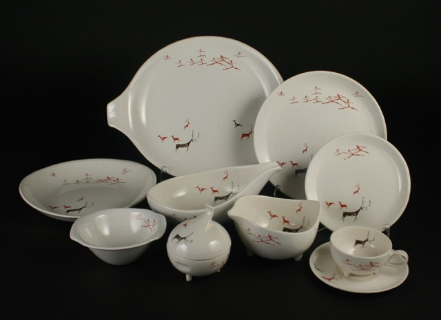 Viktor Schreckengost Salem China Free Form Primitive dinnerware 2017.52 & SOFA Chicago 2017 \u2013 International Museum of Dinnerware Design