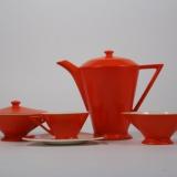 Salem China, Mandarin Tricorne Art Deco Coffee Set