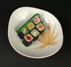 Ben Seibel Iroquois Informal Harvest Time 2014.156 with sushi