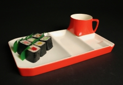 red snack set with sushi by unknown maker?