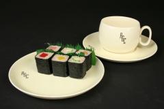 MCM Cavitt-Shaw RGC monogrammed 1939 with sushi