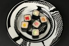 Roy Lichtenstein pop art Jackson China with sushi