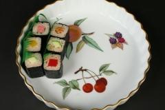 2015.111 Royal Worcester Evesham with sushi
