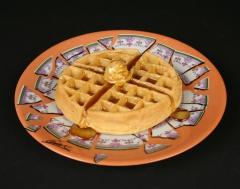 Cesar Baldaccini, Assiette Brisee Broken Plate Paris 1973 with waffle