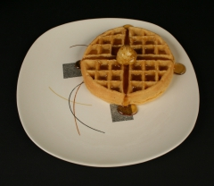 Knowles Choreography dinner plate with waffle