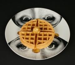 Piero Fornasetti designed Lina plate with waffle