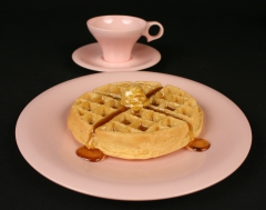 Russel Wright pink Flair by Northern melamine with waffle