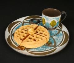 Sanam Emami  snack set with waffle
