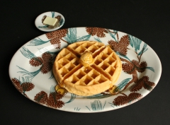 Tepco Pine Cone restaurant ware with waffle