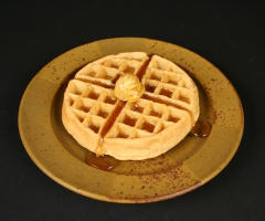 Val Cushing with waffle