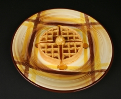 Vernon Ware Organdie charger with waffle