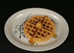 Wallace China design by Ann F. Landau c. 1958 Sea Play with waffle