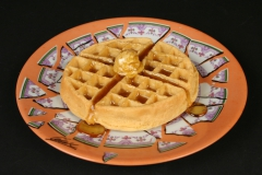 Cesar Baldaccini, Assiette Brisee Broken Plate Paris 1973 with waffle