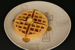Crazy Rhythm Red Wing dinner plate with waffle