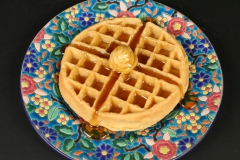 French Longwy Ware with waffle
