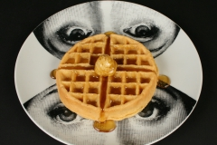 Piero Fornasetti designed Lina plate with waffle