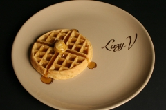 Tepco Lazy V restaurant ware platter with waffle